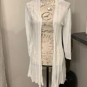 Grace Elements white open front cardigan